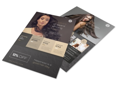 Modern Hair Salon Services Flyer Template preview