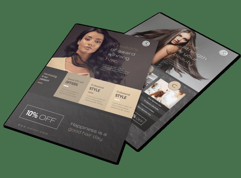Modern Hair Salon Services Flyer Template Preview 1