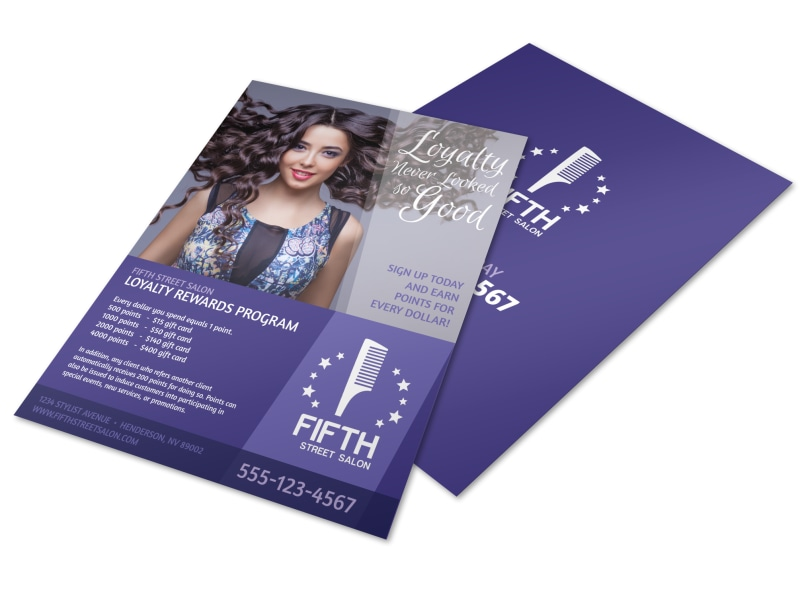 Design Custom Hair Salon Flyers Online Mycreativeshop