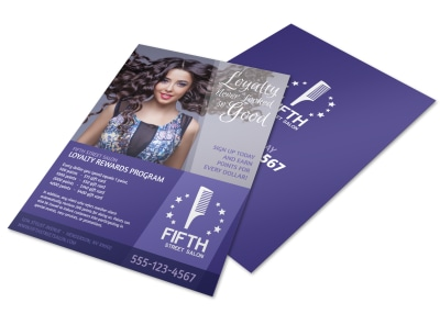 Hair Salon Loyalty Rewards Program Flyer Template preview