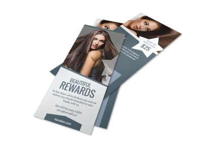 Beauty Salon Rewards Program Flyer Template preview