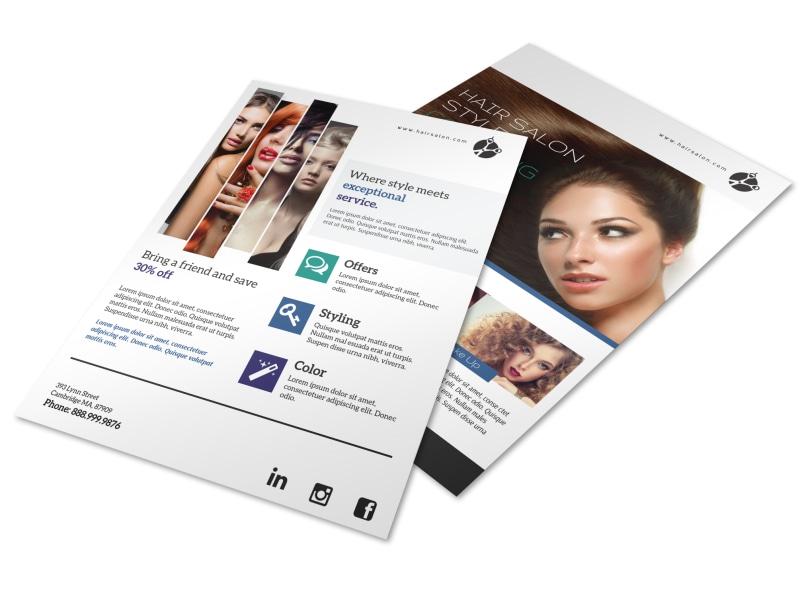 Hair Salon Sales Flyer Template
