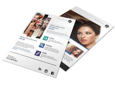 Hair Salon Sales Flyer Template preview