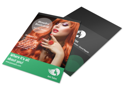 Hair Salon Special Events Flyer Template preview