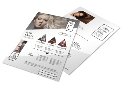 Stunning Hair Salon Flyer Template preview