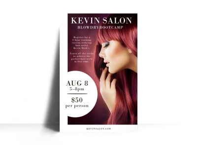 Hair Salon Special Events Poster Template preview