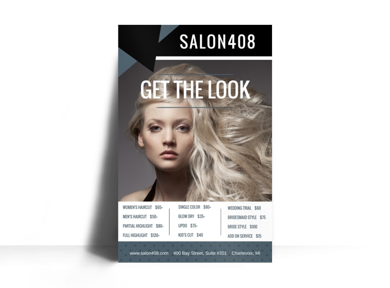 Hair Salon Price List Poster Template Preview 3