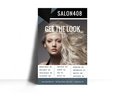 Hair Salon Price List Poster Template