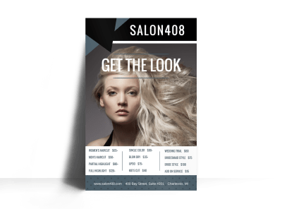 Hair Salon Price List Poster Template Preview 1