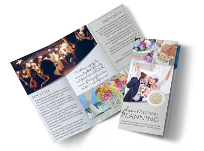 Plum Wedding Planner Brochure Template preview