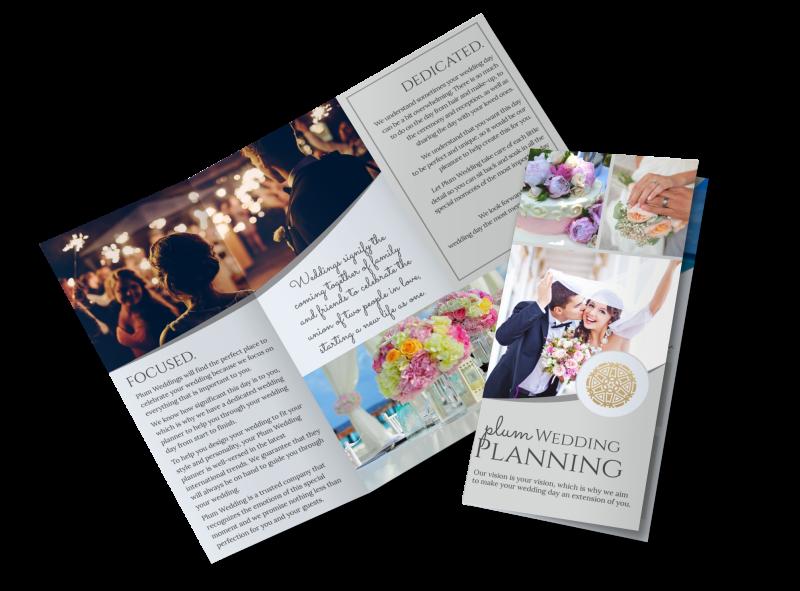 Plum Wedding Planner Brochure Template Preview 1