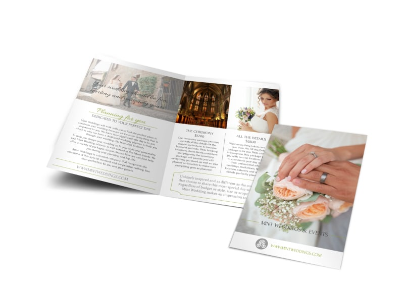 wedding planner brochure template - parties weddings brochure templates mycreativeshop