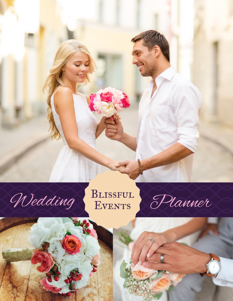 Blissful Wedding Planner Flyer Template Preview 2