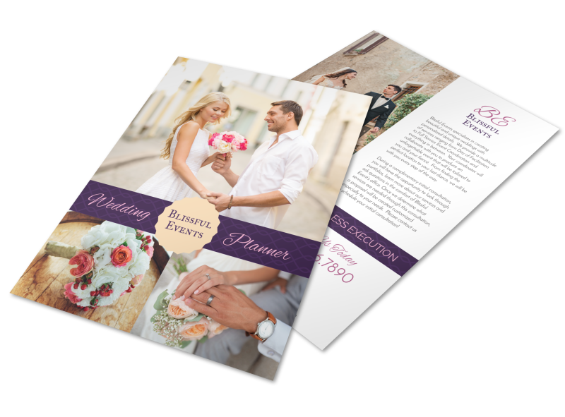 Blissful Wedding Planner Flyer Template Preview 1