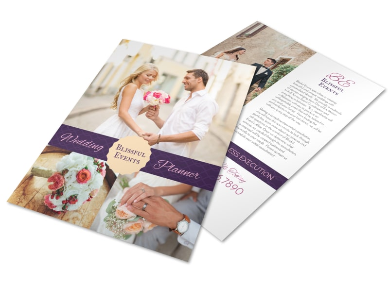 Blissful Wedding Planner Flyer Template Preview 4