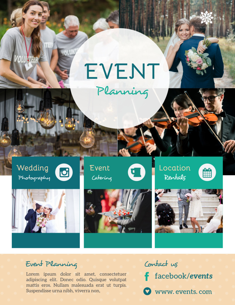 Beautiful Event Planning Flyer Template Preview 2