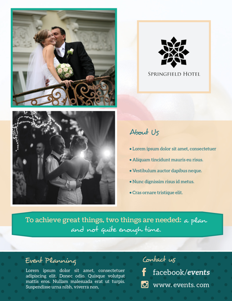 Beautiful Event Planning Flyer Template Preview 3