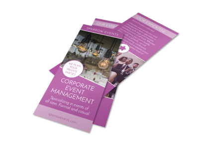 Corporate Event Planner Flyer Template