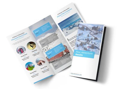 Event Planner Adventure Tri-Fold Brochure Template preview