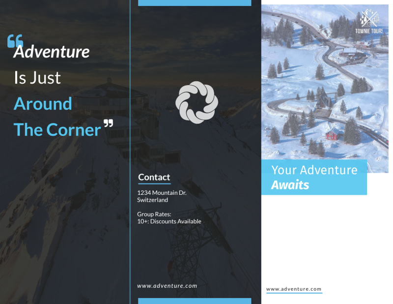 Event Planner Adventure Tri-Fold Brochure Template Preview 2