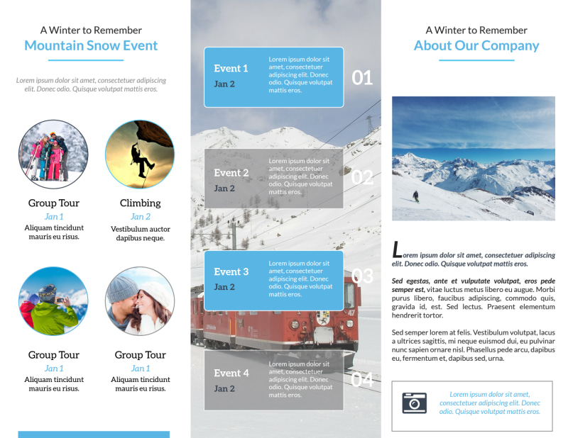 Event Planner Adventure Tri-Fold Brochure Template Preview 3