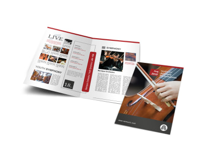Music Academy Event Bi-Fold Brochure Template