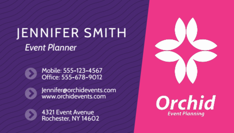 Modern Event Planner Business Card Template Preview 2