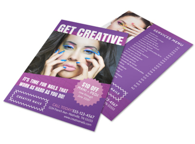 Creative Nail Salon Flyer Template preview