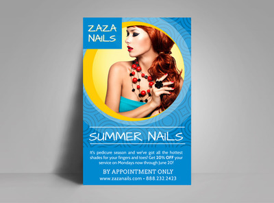 Summer Nail Salon Poster Template