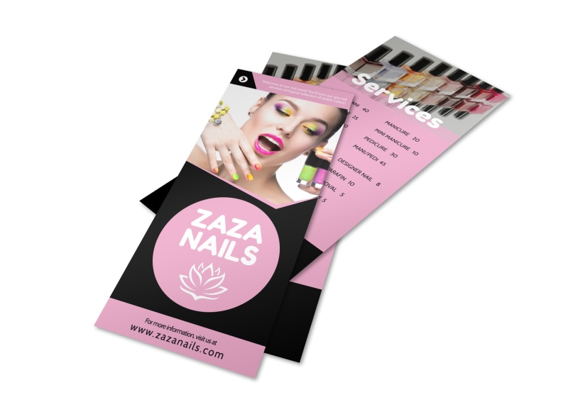Nail Salon Price List Flyer Template