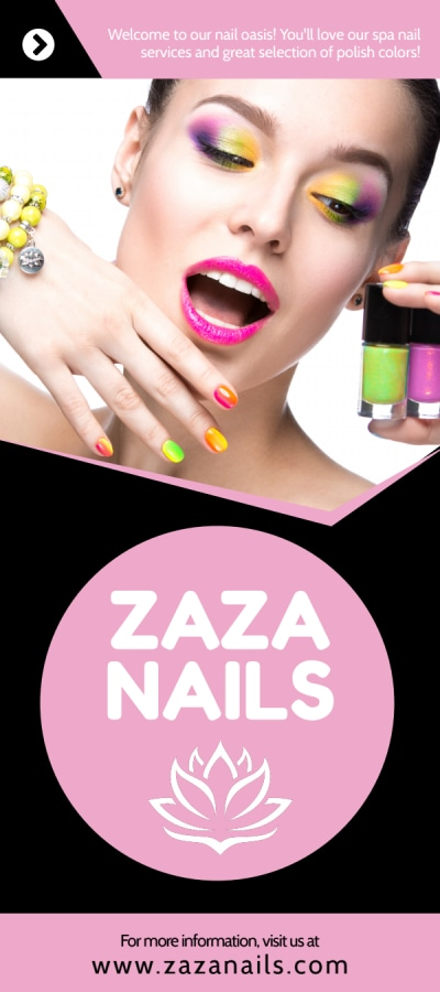 Nail Salon Price List Flyer Template Preview 1