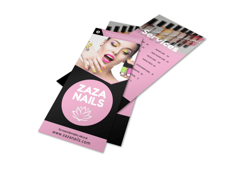 Nail Salon Price List Flyer Template Preview 1