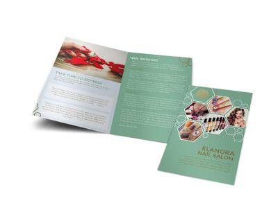 Elanora Nail Salon Bi-Fold Brochure Template