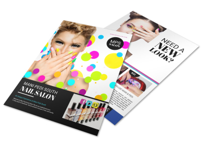 Nail Salon Advertising Specials Flyer Template preview