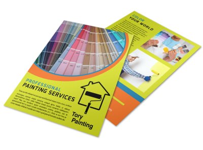 Pro Painting Service Flyer Template & Painting Advertising: Create Flyers Posters Door Hangers u0026 More