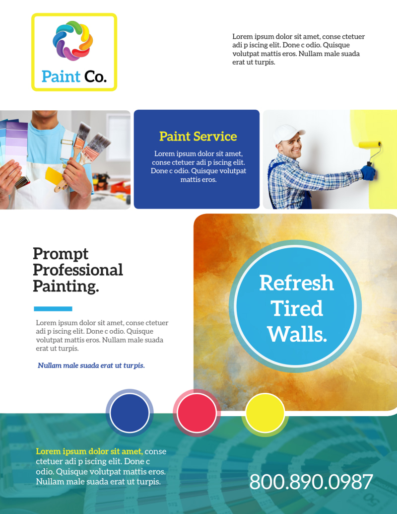 Awesome Painting Service Flyer Template Preview 2