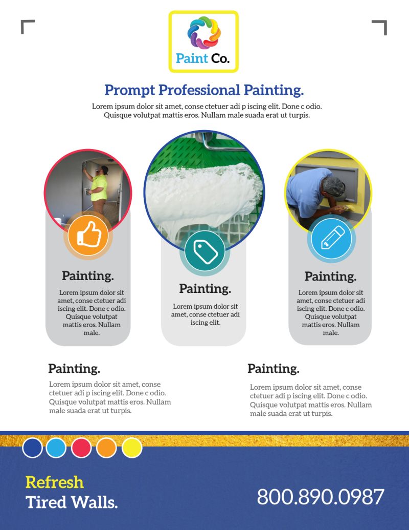 Awesome Painting Service Flyer Template Preview 3
