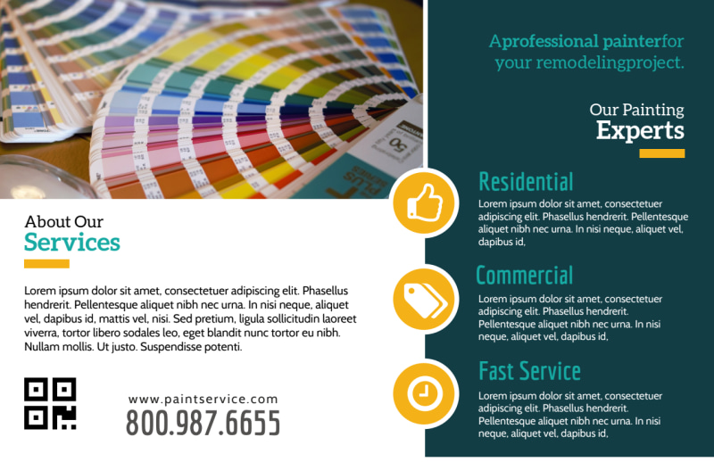 Pro Painting Service Postcard Template Preview 3
