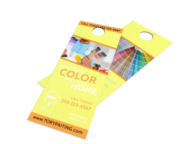 Painting Service Door Hanger Template preview
