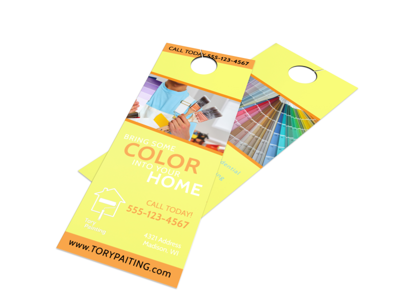 Painting Service Door Hanger Template Preview 1