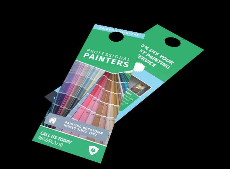 Bright Painting Service Door Hanger