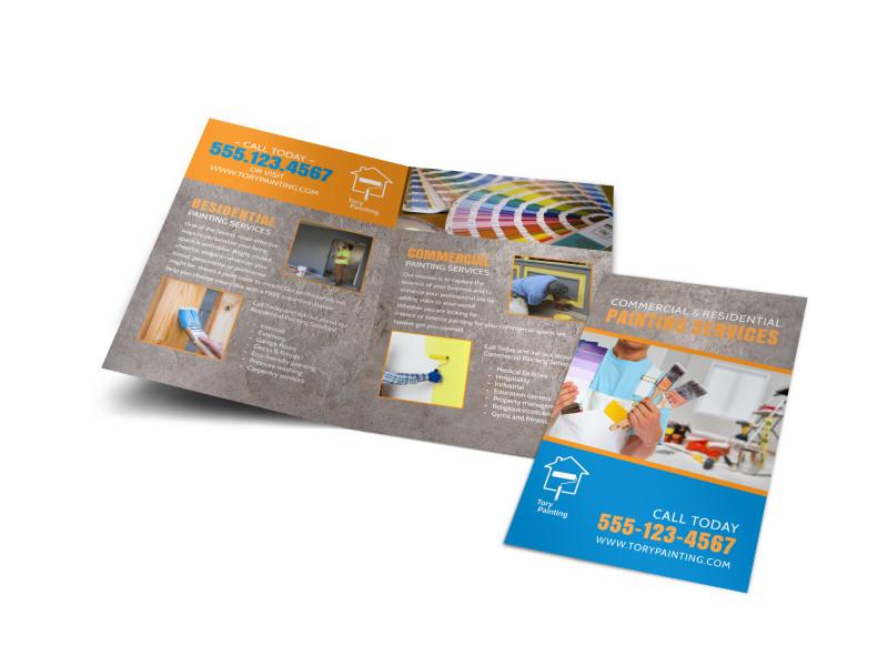 Painting Service Bi Fold Brochure Template Mycreativeshop