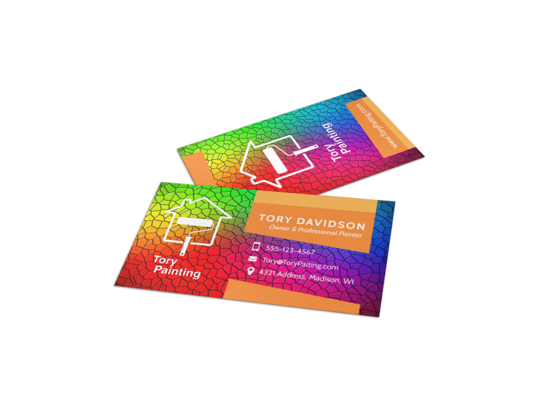 Painting service business card template mycreativeshop painting service business card template colourmoves