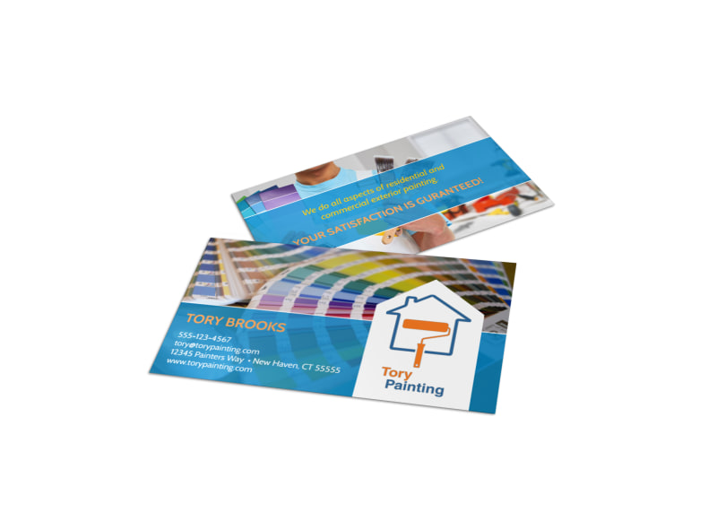 colorful painting service business card template - Painting Business Cards