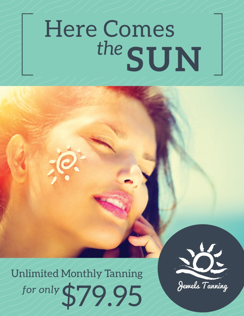 Promo Tanning Salon Flyer Template Preview 2