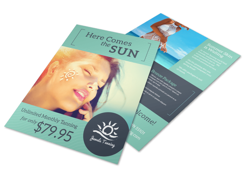 Promo Tanning Salon Flyer Template Preview 1