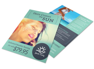 Promo Tanning Salon Flyer Template preview