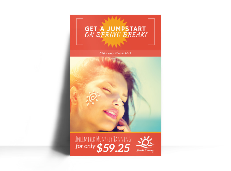 Fun Tanning Salon Poster Template