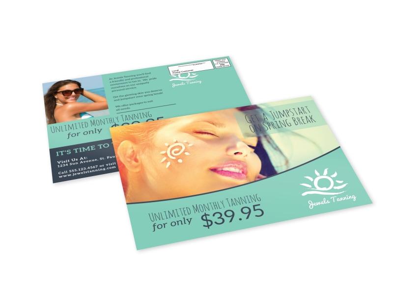 Tanning Salon EDDM Postcard Template