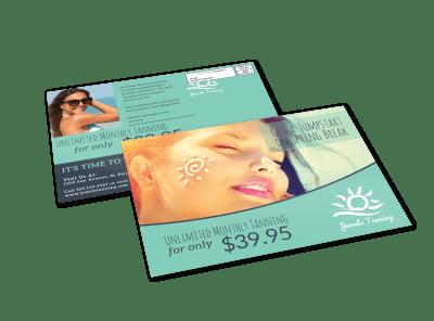 Tanning Salon EDDM Postcards Template Preview